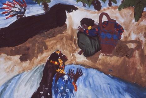 Painting representing traditional folk legend in Bulgaria