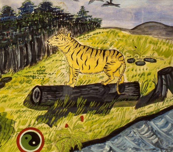 Child's drawing showing a Nepalese tiger