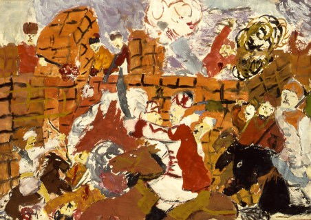 Painting by child of a battle scene