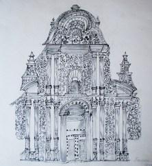 Fachada de la Iglesia de la Compañía