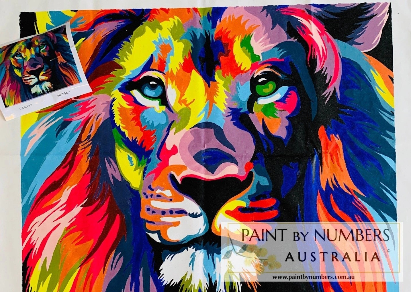 Abstract Colourful Lion