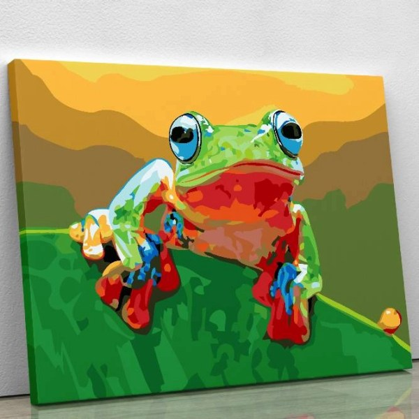 Australian Frog Paint By Numbers