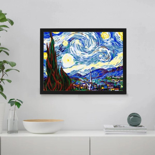 Starry Night by Vincent van Gogh 1889 PAint By Numbers