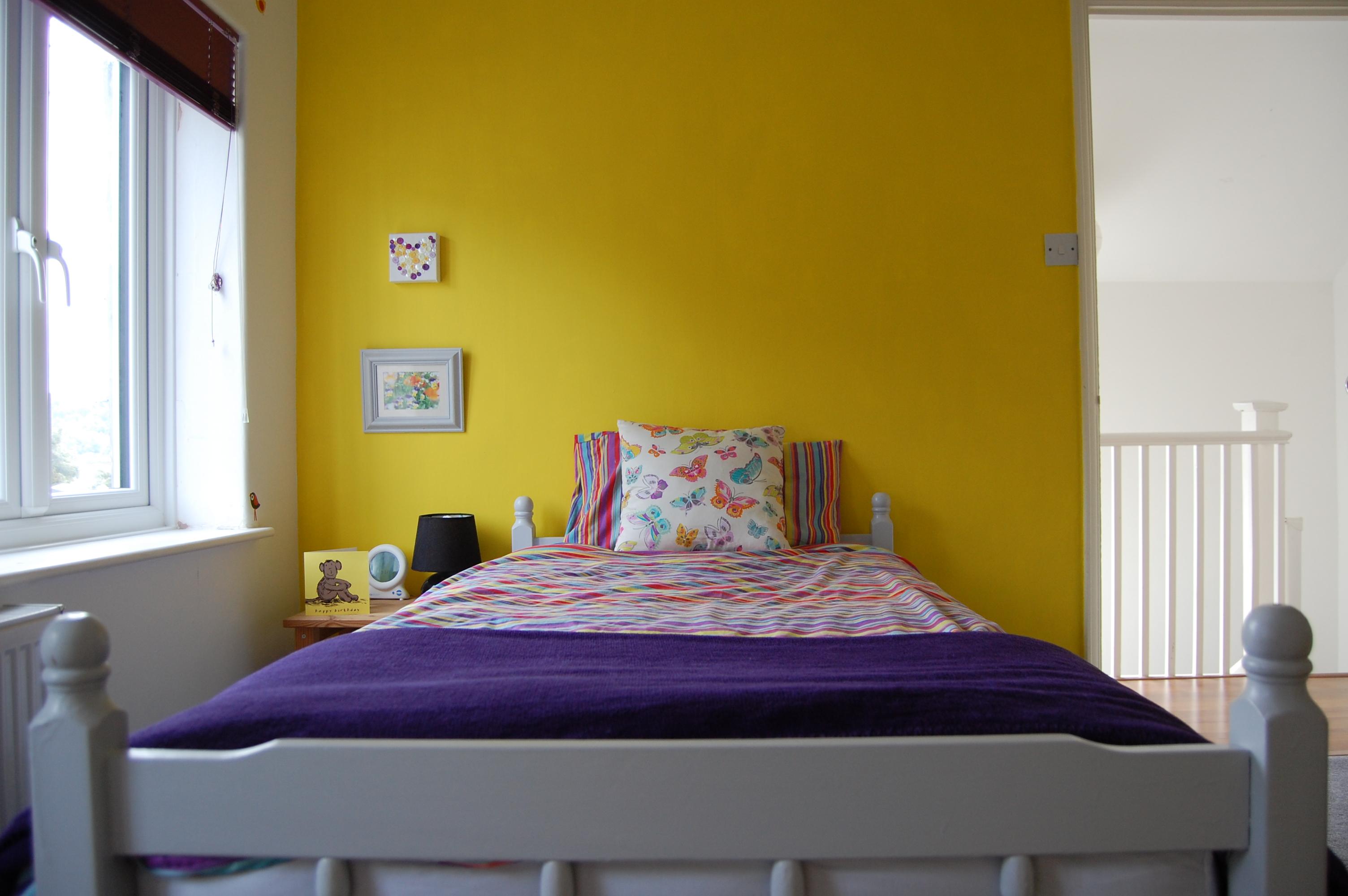3yearold girls yellow and purple bedroom  Paint chart joy