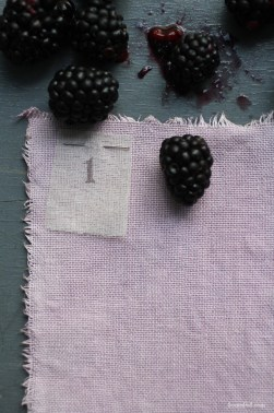 Linen dyed with blackberries