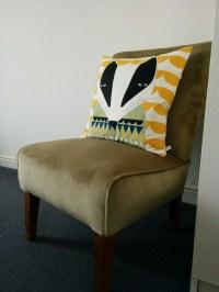 Charity shop upholstery project  Paint chart joy