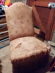 Victorian nursing chair - before