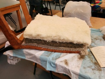 Traditional upholstery chair back