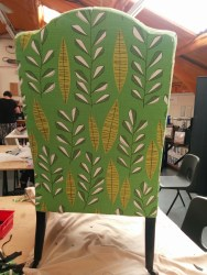 Upholstered chair in MissPrint fabric - Joanne Mass