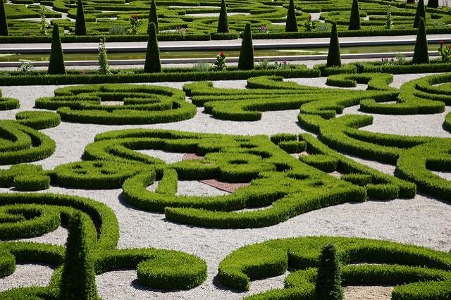 Garden of Frederiksborg castle
