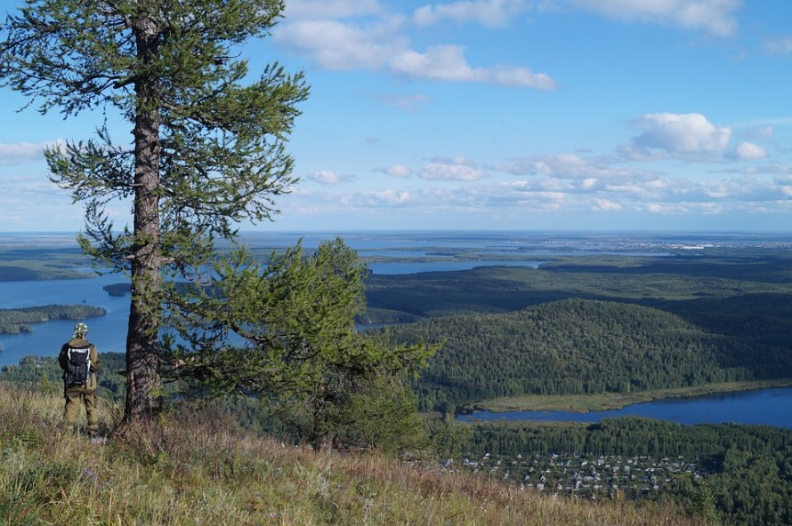 Summer Lake Ural Ural Mountains View Mountains