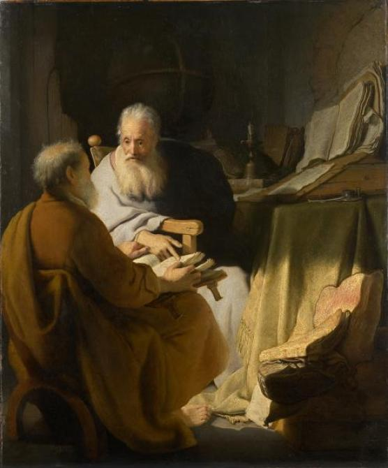 Rembrandt_Two_old_men_disputing_1628