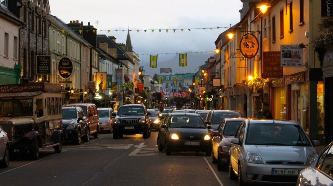 City Ireland Killarney Shops Downtown Traffic