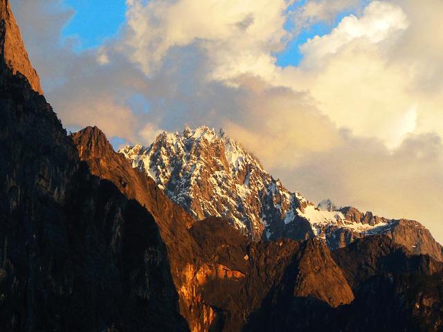 Himalayas Landscape Mountains Yunnan China