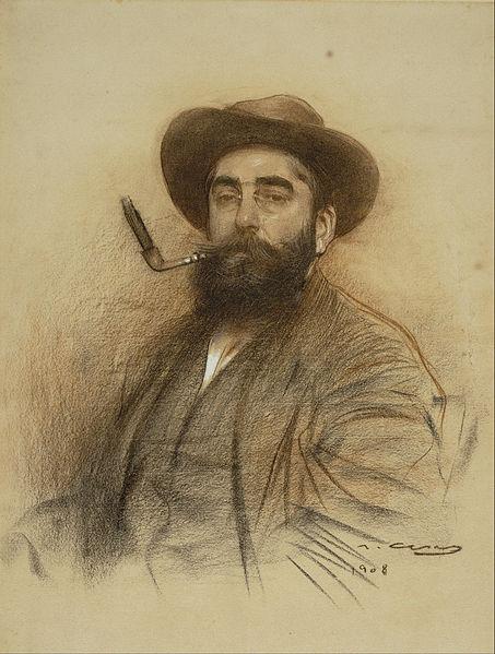 453px-Ramon_Casas_-_Self-portrait_-_Google_Art_Project_(559678)