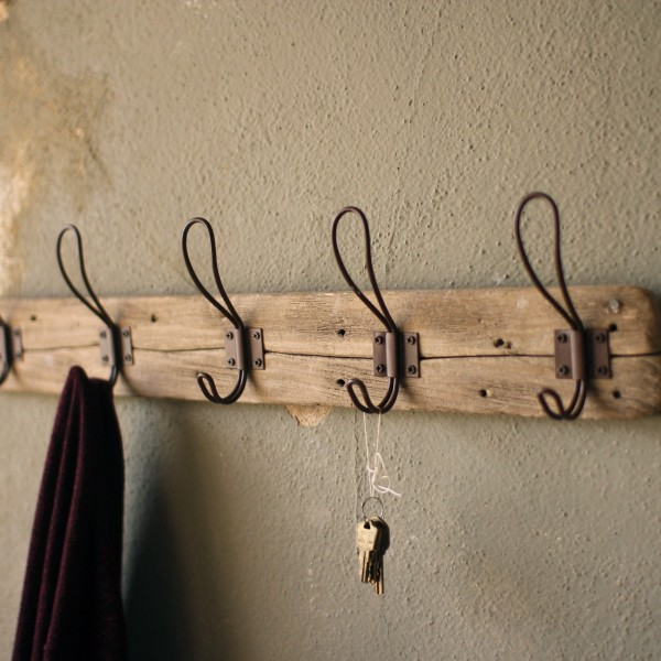 Recycled Wood and Wire Coat Hanger
