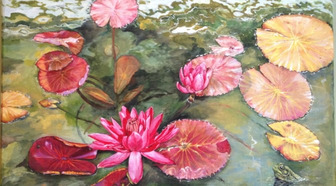 Water Lily Pond Bench