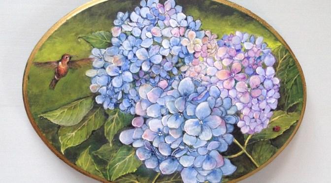 Hydrangea Plaque Series – Spring