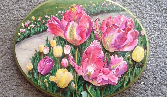 Parrot Tulip Plaque