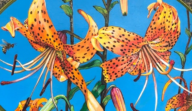 Tiger Lily Plaque Twosome