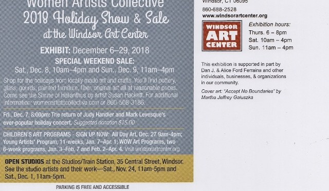 Women Artists Collective 2018 Holiday Show and Sale