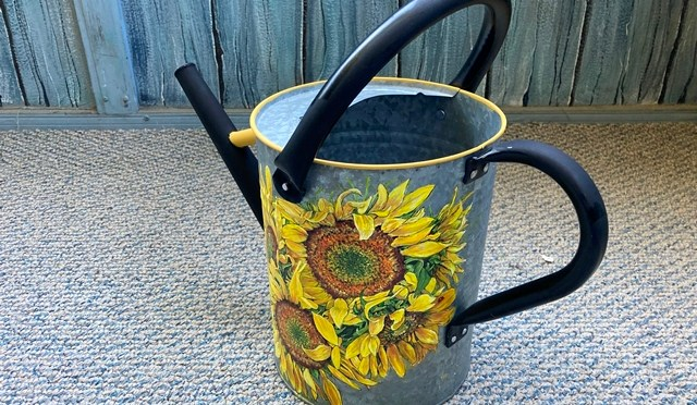 Sunflowers Watering Can
