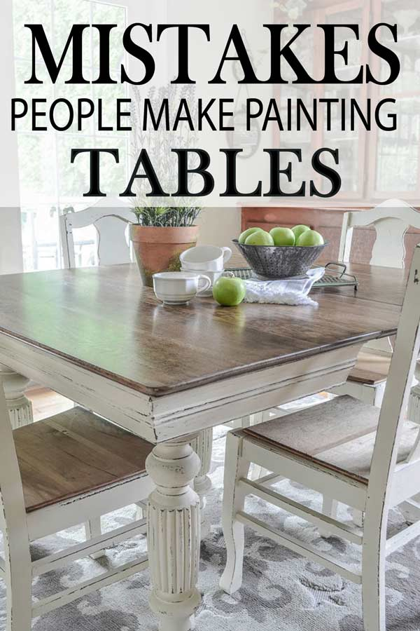 Custom Painted Kitchen Table