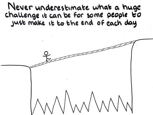 Doodle art to understand depression