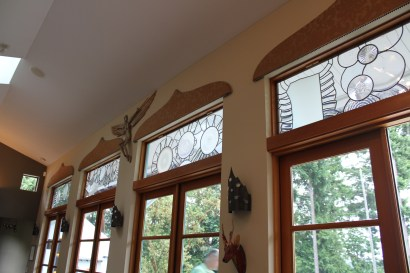 Dick Weiss windows that are uncharacteristically in subtle tones.
