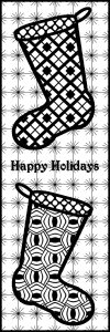 Happy Holidays - Stocking ZT Bookmark