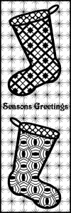 Seasons Greetings - Stocking ZT Bookmark