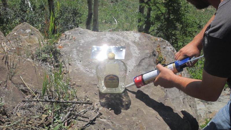 Favorite Social Drink mounted on memorial rocks