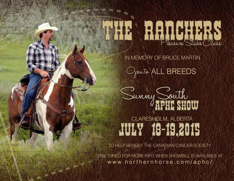 Bruce Martin Ranchers Pleasure Stake Class Memorial