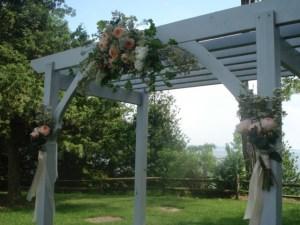 Painted Tulip Floral Design Wedding Arbor