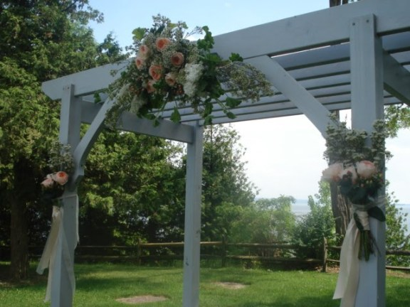 Painted Tulip Floral Design Wedding Arbor