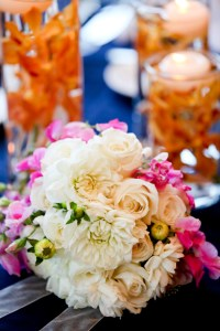 Table Arrangements with Bouquet