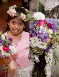 """Flower girl and Brides Bouquet"""