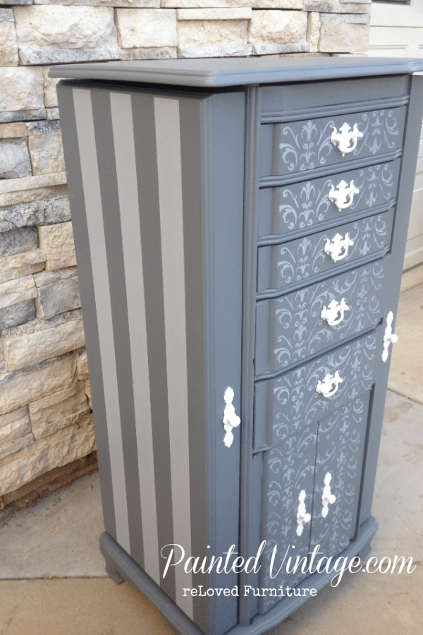 Traceys Fancy Inspired Armoire Painted Vintage