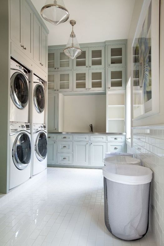 Conservative Gray Laundry Room Paint Color