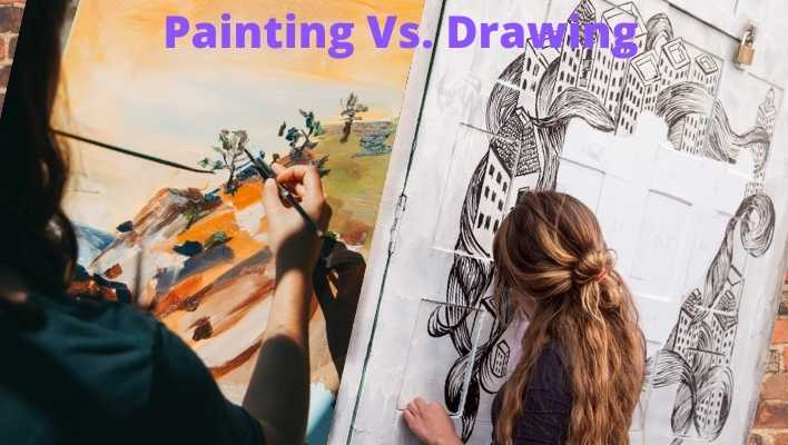 Difference between painting and drawing