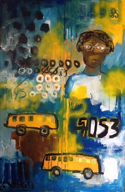 """""""Rosa Parks"""" / 2x 40×120 cm /380 €"""