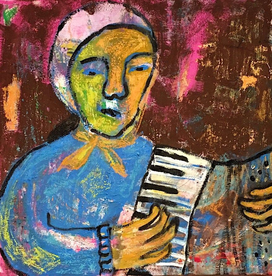 The accordian player 1/ 60×60 cm /200 €
