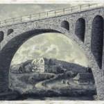 Ворохта, основна арка мосту над Прутом, готель Золотий ріг,1920-ті роки, 40х60, полотно, олія, 2016р._Петро Грицюк