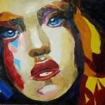 Портрет модели (по мотивам), холст, масло,40х50_Анна Прохорова