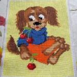 Собачка, 15 цветов, размер вышивки 14 х 16см без рамки.вышивка крестом, Черненко Екатерина