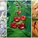 Триптих Вишня, 120х60 см, холст, масло -Валентина Пилипенко