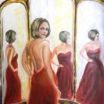 У зеркала,масло,холст,60х80_Дмитрий Косариков