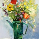 Цветы-Дача, холст, масло, 40х50, 2016 г. Елена Жигилевич