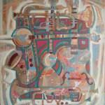 Музыкальный квадрат_2009г. холст,акрил, 80х70, Александр Шинин