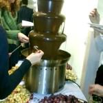На фуршете.Шоколадный фонтан
